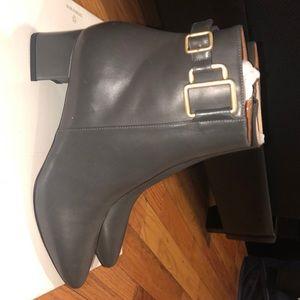 Leather aquatalia booties